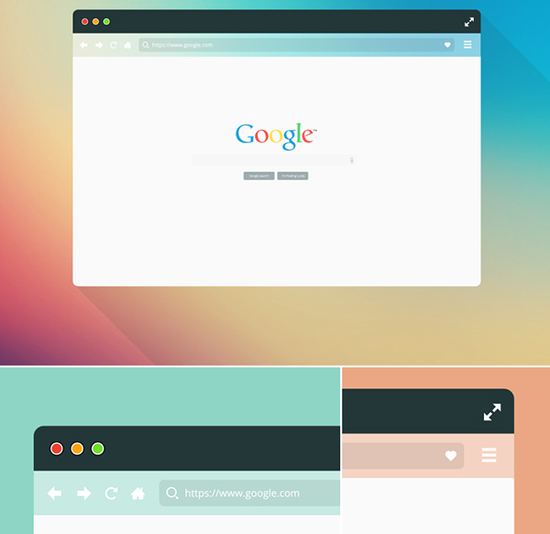 10 Free Web Browser Mockups (PSD, AI) 5