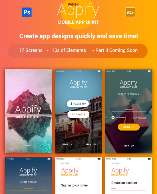 8 Fresh & Free Mobile App PSD Templates 5