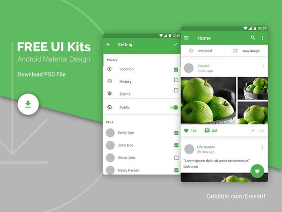 8 Fresh & Free Mobile App PSD Templates 7