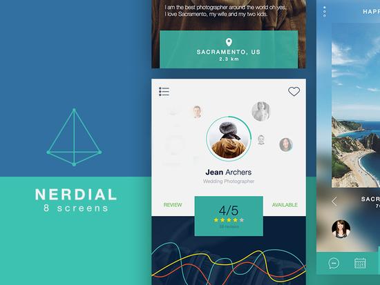 8 Fresh & Free Mobile App PSD Templates 8