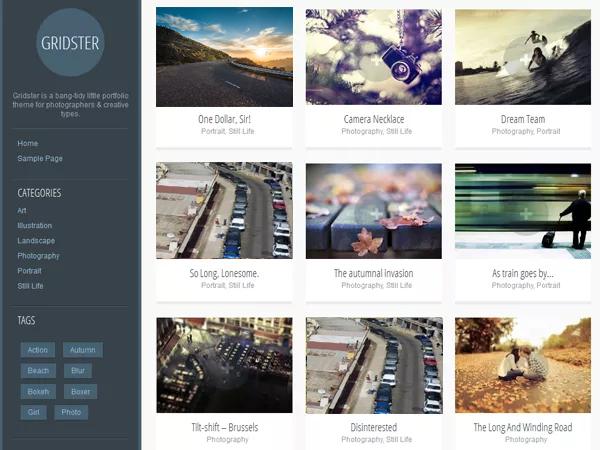 9 Free WordPress Artistic Themes 8