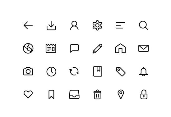 11 Free High-Quality Line Icon Sets 10