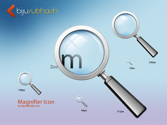 10 Free Magnifying Glass Search Icons Sets (PSD + Vector) 6