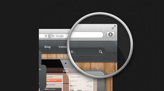 10 Free Magnifying Glass Search Icons Sets (PSD + Vector) 8