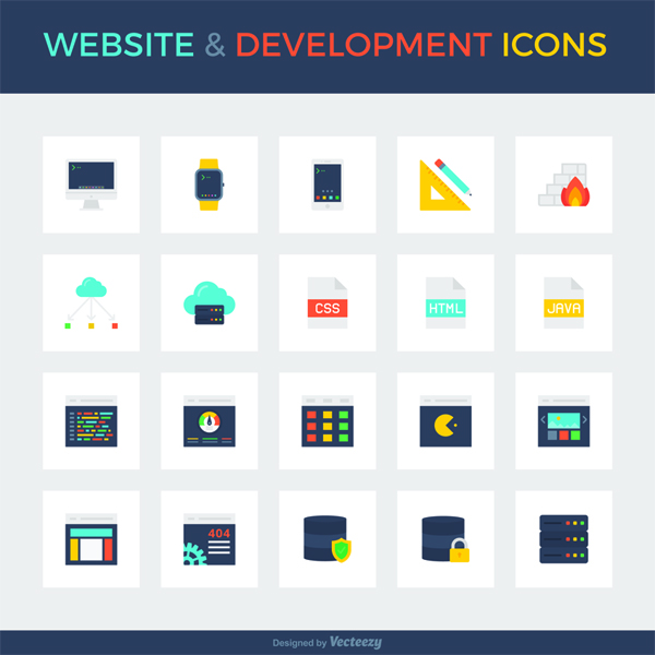 Smashing Freebies: Website & Development Icon Set 1