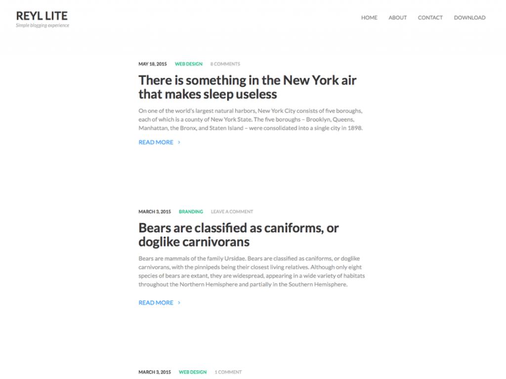 11 Super Simple Wordpress Themes 7