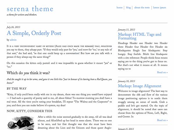 11 Super Simple Wordpress Themes 2