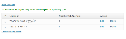 Watu Quiz