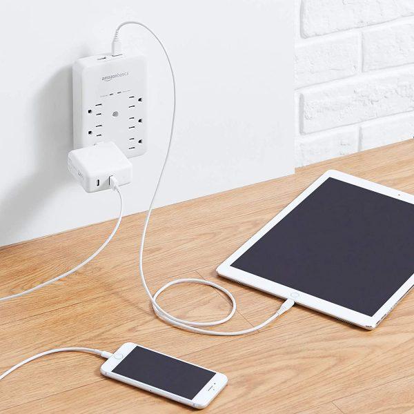 USB charging Wall Mount Surge Protector