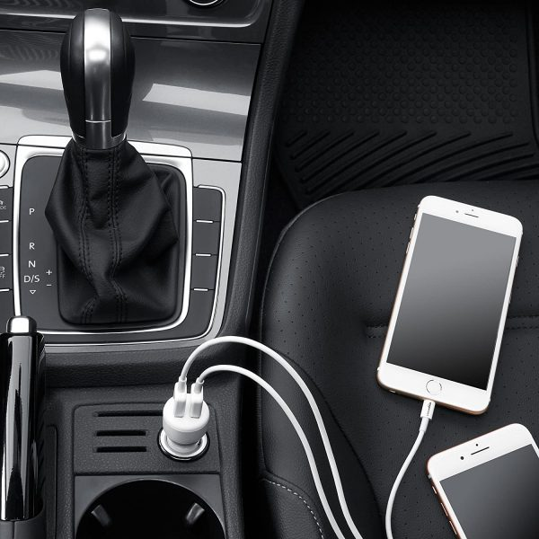 Dual-Port USB Car Charger Adapter for Apple and Android Devices 1