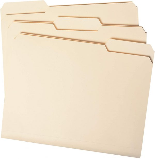 File Folders Letter Size 1/3-Cut Tab Assorted Positions 2