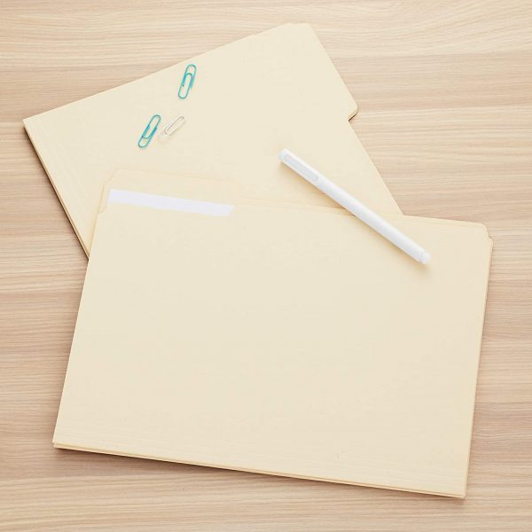 File Folders Letter Size 1/3-Cut Tab Assorted Positions 4