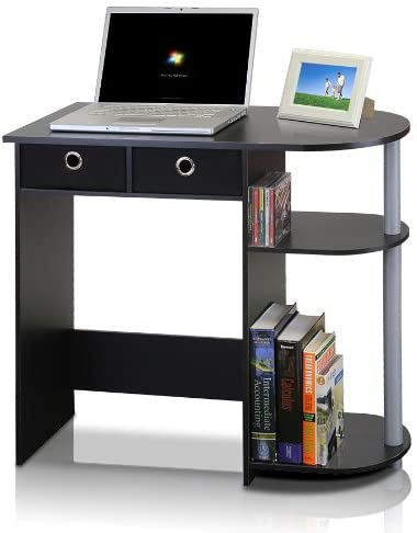 Furinno Computer Desk with 2 Drawers - Smart Laptop Table 1