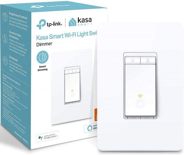 Kasa Smart Dimmer Switch HS220, 2.4GHz Wi-Fi Light Switch 1