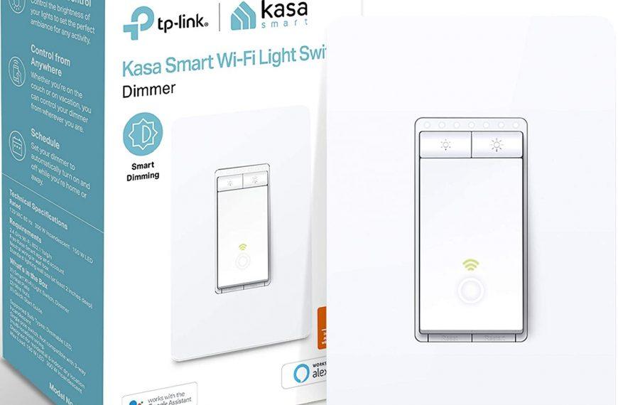 Kasa Smart Dimmer Switch HS220, 2.4GHz Wi-Fi Light Switch