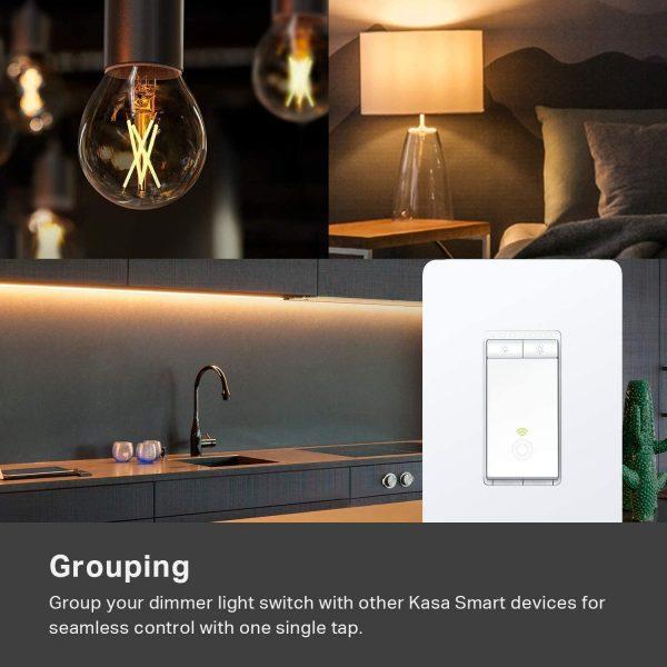 Kasa Smart Dimmer Switch HS220, 2.4GHz Wi-Fi Light Switch 4