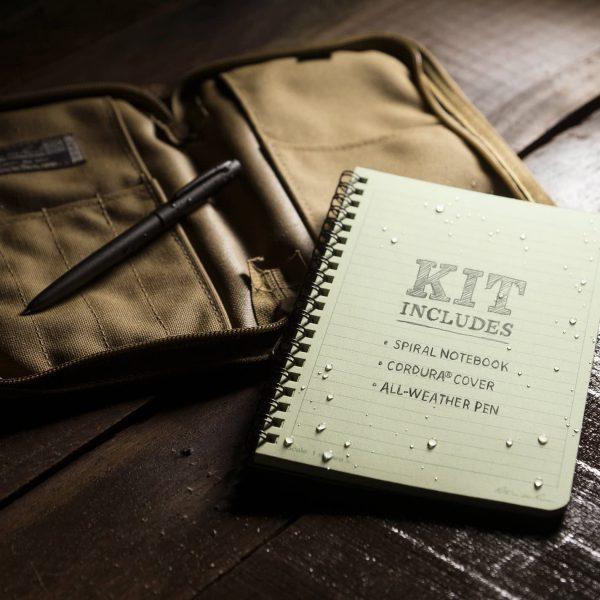 Weatherproof Side Spiral Kit Includes Notebook, Cover & Pen 6
