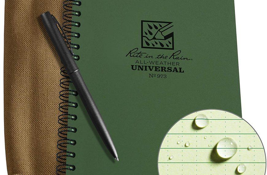 Weatherproof Side Spiral Kit Includes Notebook, Cover & Pen