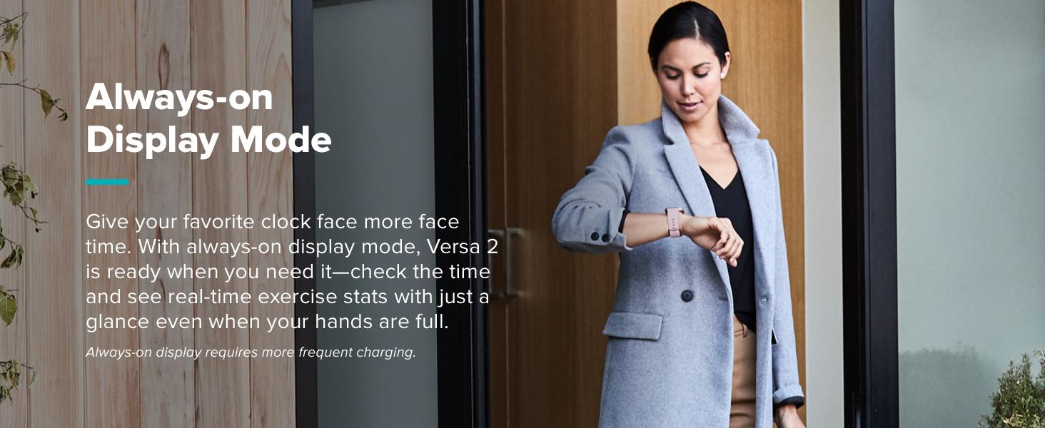 Fitbit Versa 2 Smartwatch always on display