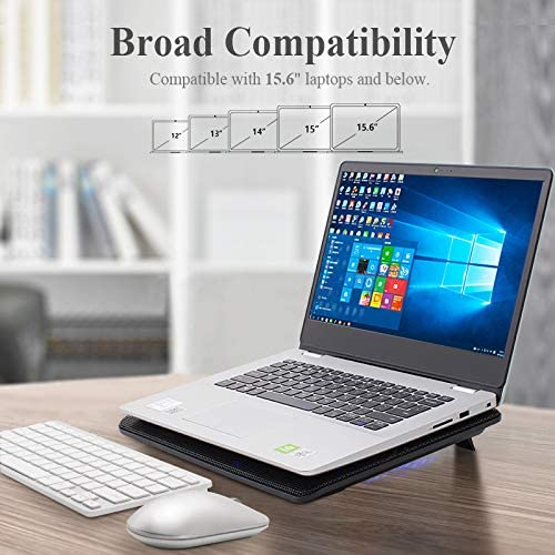 """FLAGTOP Laptop Fan Cooling Pad Compatible with 14 - 15"""" Laptop 5"""