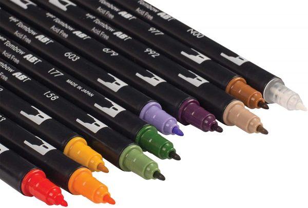 Tombow Dual Brush Pen Art Markers, Brush and Fine Tip Markers, 10-Pack 5