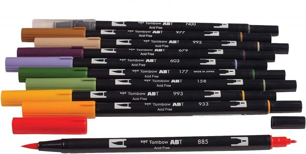 Tombow Dual Brush Pen Art Markers, Brush and Fine Tip Markers, 10-Pack 3