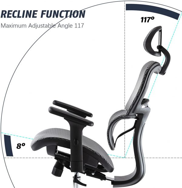 Ergonomic Executive Office Chair with Lumbar Support 6
