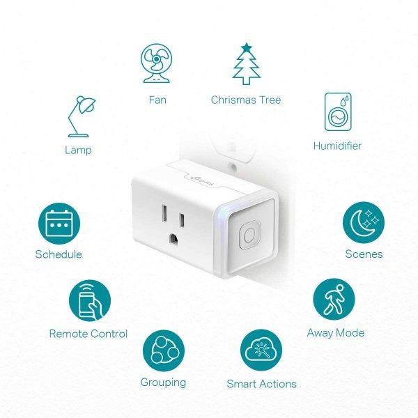 Kasa Smart Plug HS103P2, Smart Home Wi-Fi Outlet 2