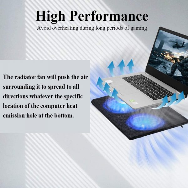 """FLAGTOP Laptop Fan Cooling Pad Compatible with 14 - 15"""" Laptop 4"""