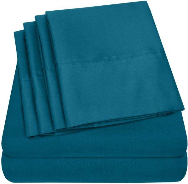 Sweet Home 6 Piece Bed Sheets Fine Microfiber Deep Pocket 2