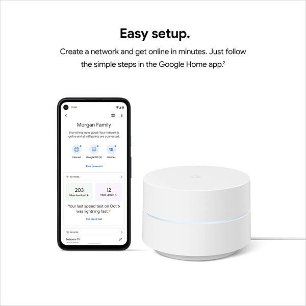 Google Wifi Mesh WiFi System Wifi Router Coverage 4500 Sq Ft 5