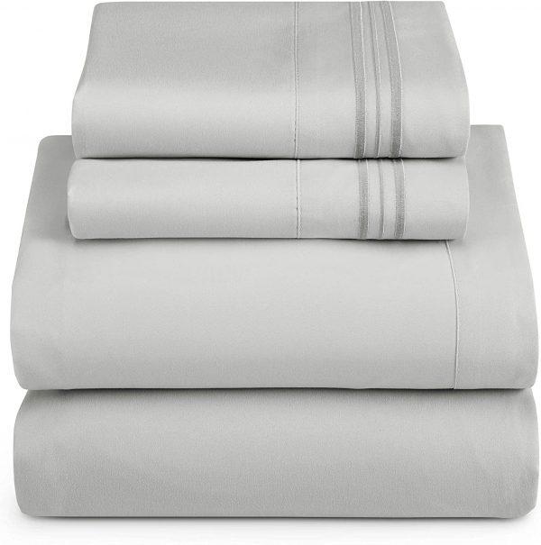 Clara Clark Bed Sheets 4 Piece Bed Set, Premier 1800 Series 5