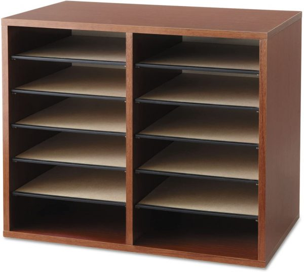 Safco Wood Adjustable Literature Organizer 12 Compartment 3