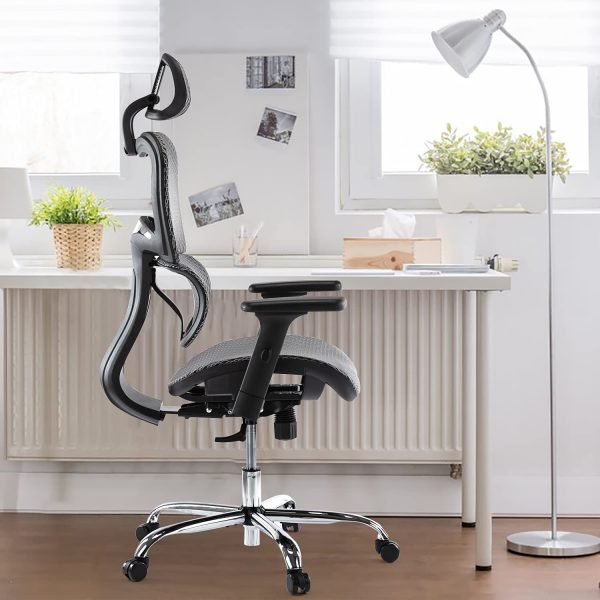 Ergonomic Executive Office Chair with Lumbar Support 3