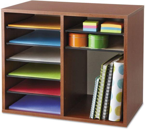 Safco Wood Adjustable Literature Organizer 12 Compartment 4