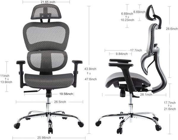 Ergonomic Executive Office Chair with Lumbar Support 5