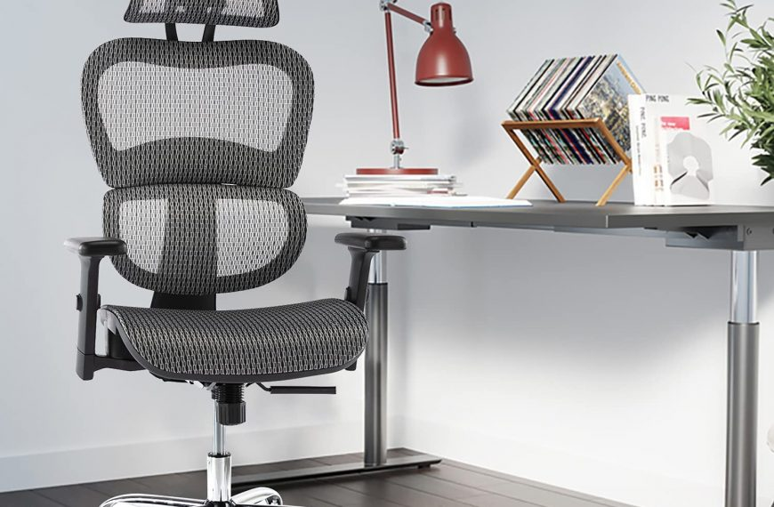 Ergonomic Executive Office Chair with Lumbar Support
