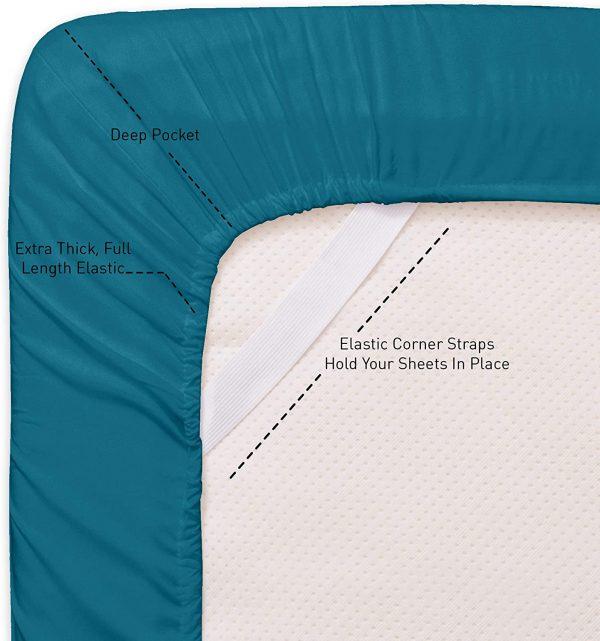 Sweet Home 6 Piece Bed Sheets Fine Microfiber Deep Pocket 5