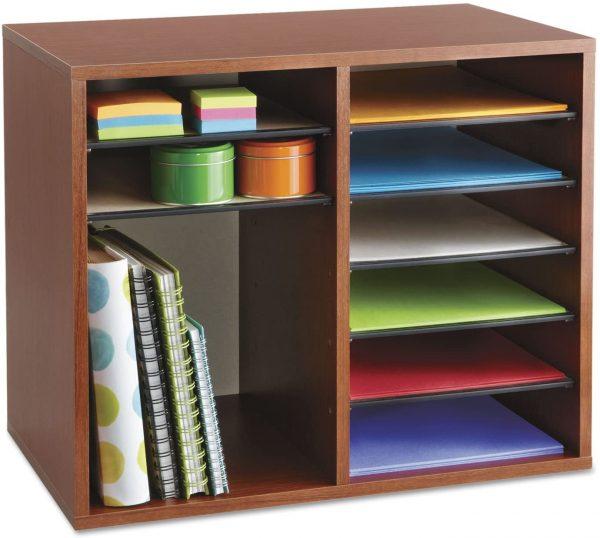 Safco Wood Adjustable Literature Organizer 12 Compartment 5