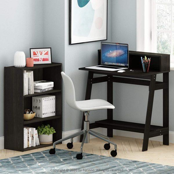 Furinno Simplistic A-Frame Computer Desk, Espresso 6