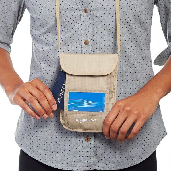 RFID Travel Neck Passport Holder Wallet 2