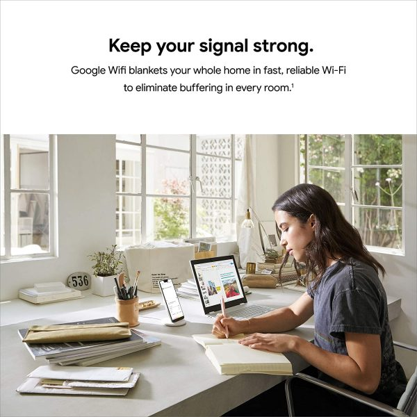 Google Wifi Mesh WiFi System Wifi Router Coverage 4500 Sq Ft 2