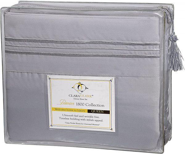 Clara Clark Bed Sheets 4 Piece Bed Set, Premier 1800 Series 6