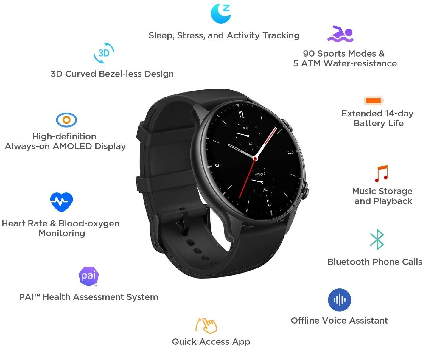 Amazfit GTR 2 Smartwatch, Alexa Built-In, GPS, Heart Rate 7