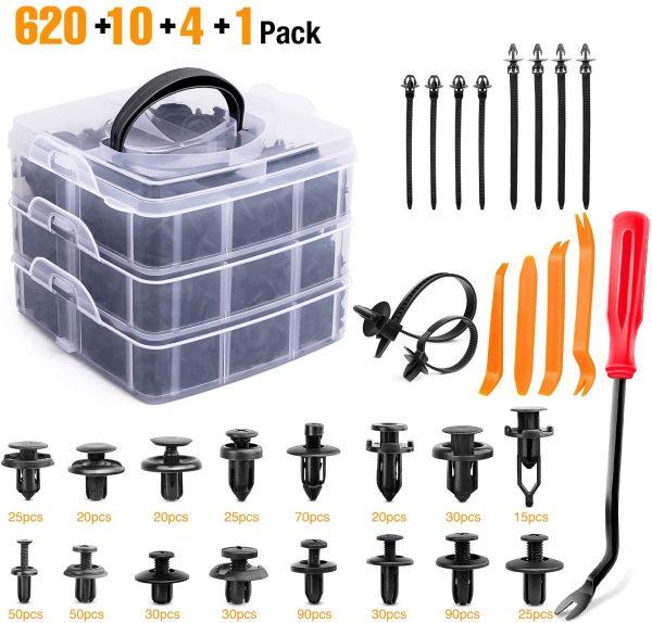 GOOACC 635Pcs Car Push Retainer Clips Auto Fasteners Assortment 1
