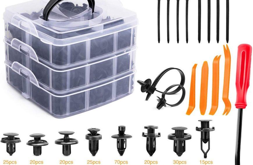 GOOACC 635Pcs Car Push Retainer Clips Auto Fasteners Assortment