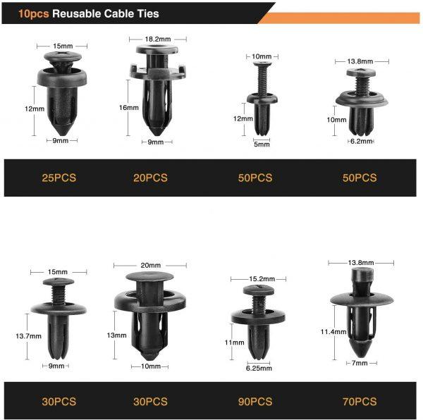 GOOACC 635Pcs Car Push Retainer Clips Auto Fasteners Assortment 3