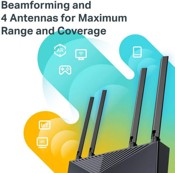 TP-Link Wifi 6 Smart WiFi Router Archer AX104 Gigabit LAN Ports 5