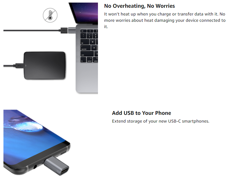 nonda USB C to USB Adapter