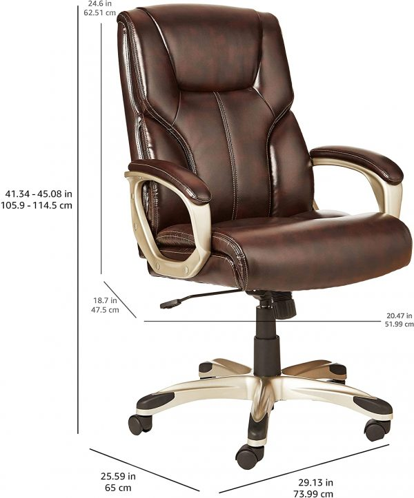 Executive Office Desk Chair with Armrests 4